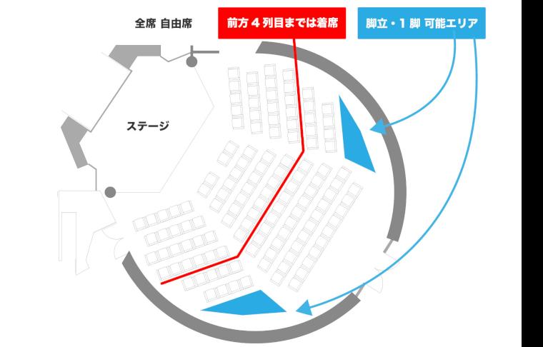 渋谷アイドル劇場座席